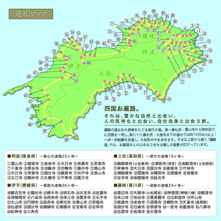 お遍路巡礼MAP